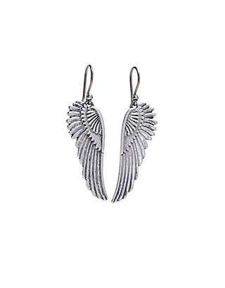 LUCKY SILVER FEATHER EARRINGS