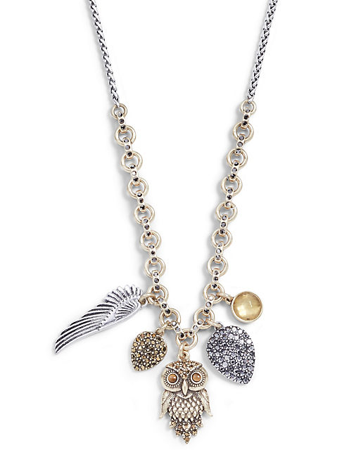 OWL CHARM NECKLACE,