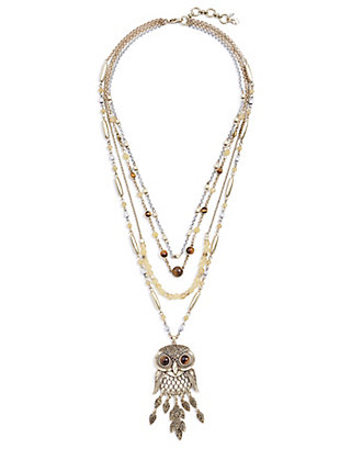 LUCKY LAYERED OWL NECKLACE