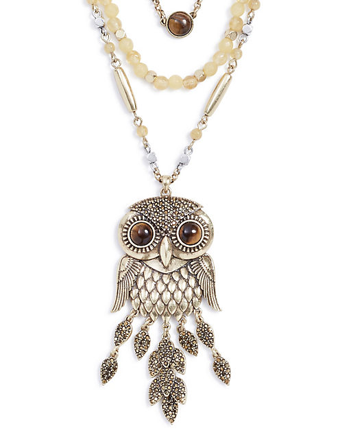 Layered Owl Necklace Lucky Brand