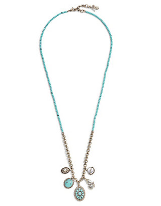 LUCKY BEADED BUTTERFLY CHARM NECKLACE