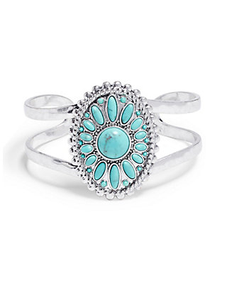 LUCKY FLORAL TURQUOISE CUFF