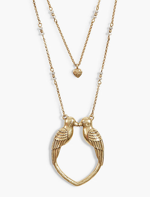LONG KISSING BIRD PENDANT,