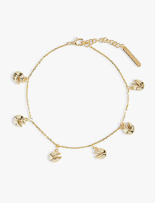 GOLD FORTUNE COOKIE CHARM BRACELET,
