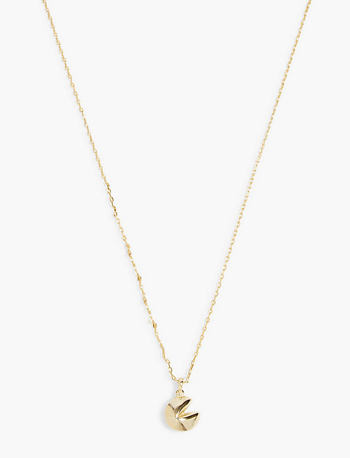 GOLD FORTUNE COOKIE NECKLACE,