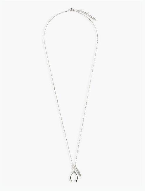 SILVER WISHBONE NECKLACE,