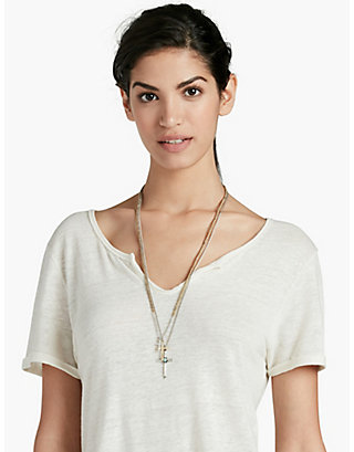 LUCKY CROSS CHARM NECKLACE
