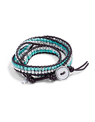 LUCKY Double Bead Wrap Bracelet