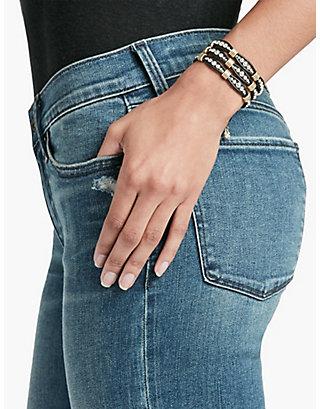 LUCKY Beaded Wrap Bracelet