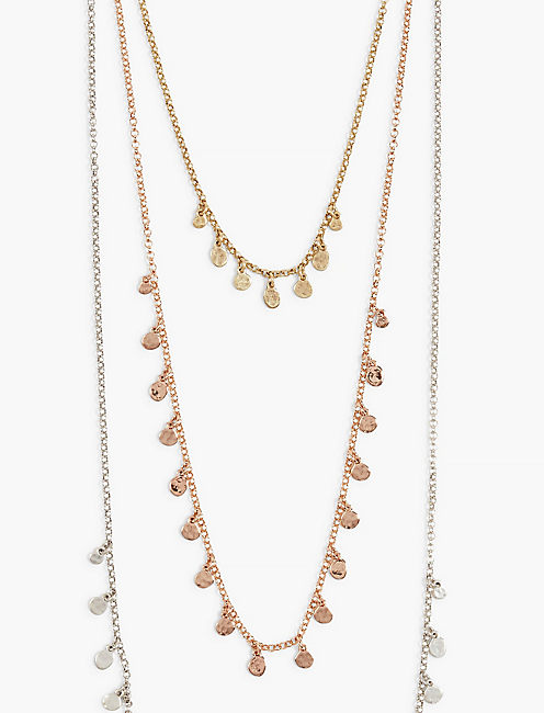 TRIPLE LUCKY LAYER NECKLACE,