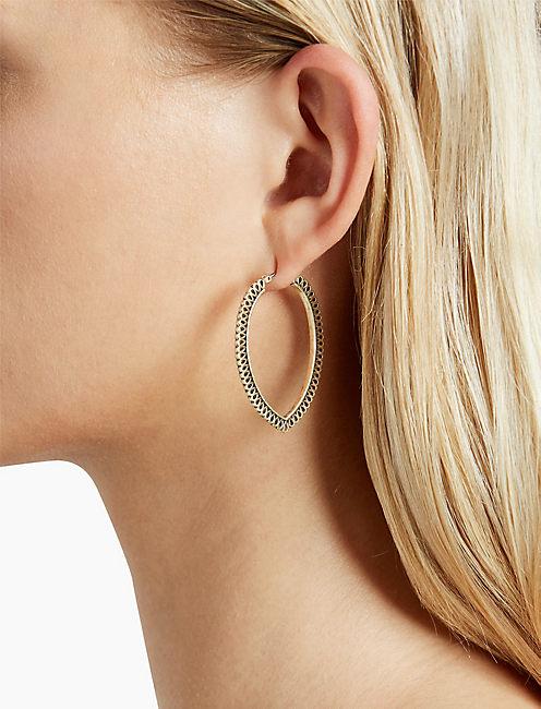Lucky Gold Openwork Hoop Earring