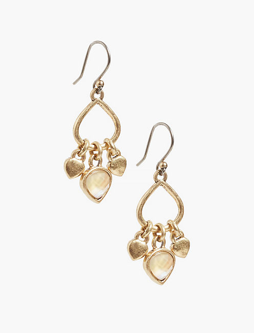 GOLD DROP EARRING,