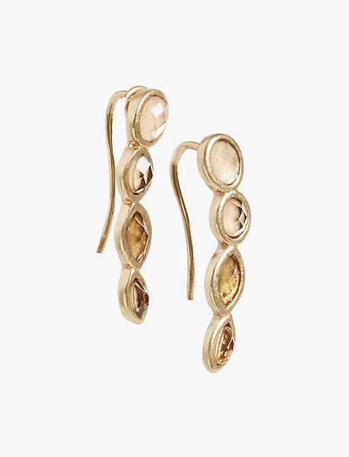 CITRINE EAR CRAWLER,