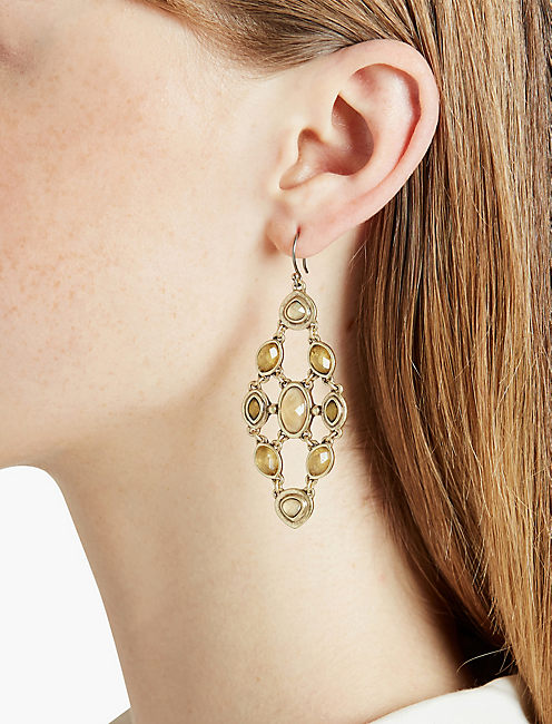 LUCKY CITRINE CHANDELIER EARRING