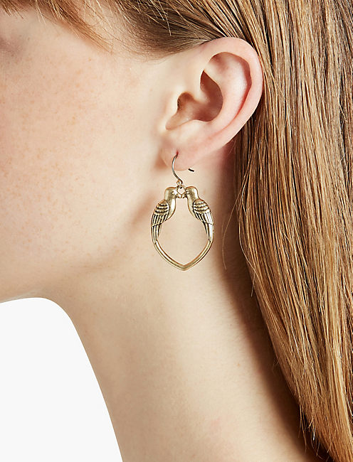 LUCKY KISSING BIRD EARRING