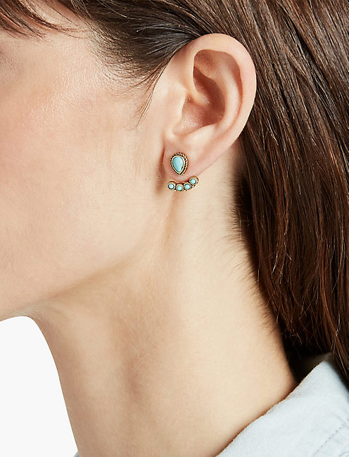 LUCKY TURQUOISE EAR JACKET