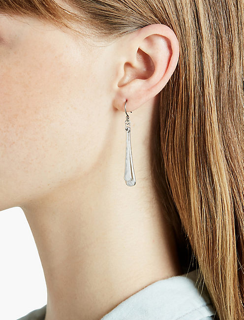 SILVER OVERLAY DROP EARRING,