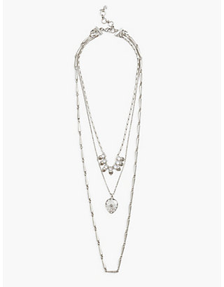 LUCKY MOONSTONE LAYER NECKLACE