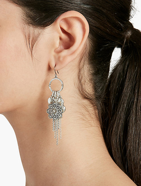 FLOWER CHARM EARRINGS,