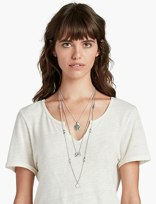 MOONSTONE LUCKY LAYER CHARM NECK,