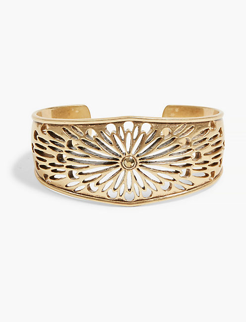 GOLD OPEN WORK EASY CUFF,