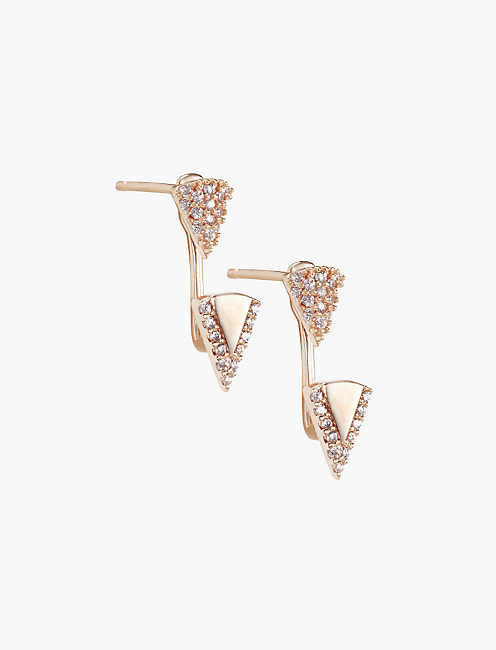 ROSE GOLD TRIANGLE EAR JACKET,