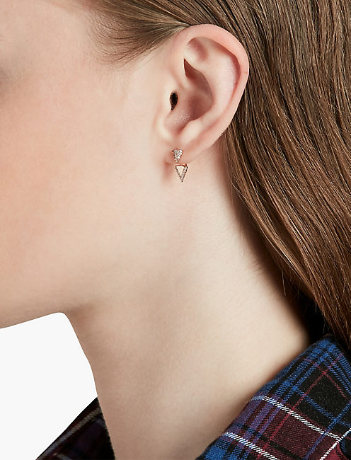 Lucky Rose Gold Triangle Ear Jacket
