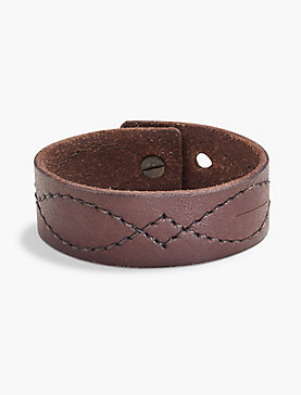 EMBROIDERED LEATHER BRACELET