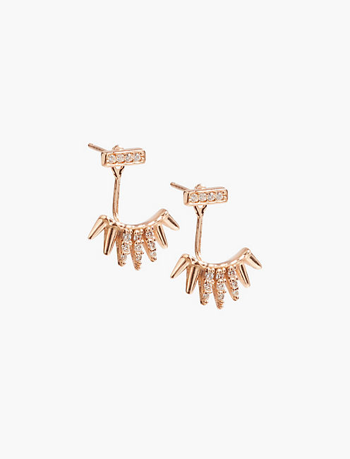 ROSE GOLD PAVE EAR JACKET,