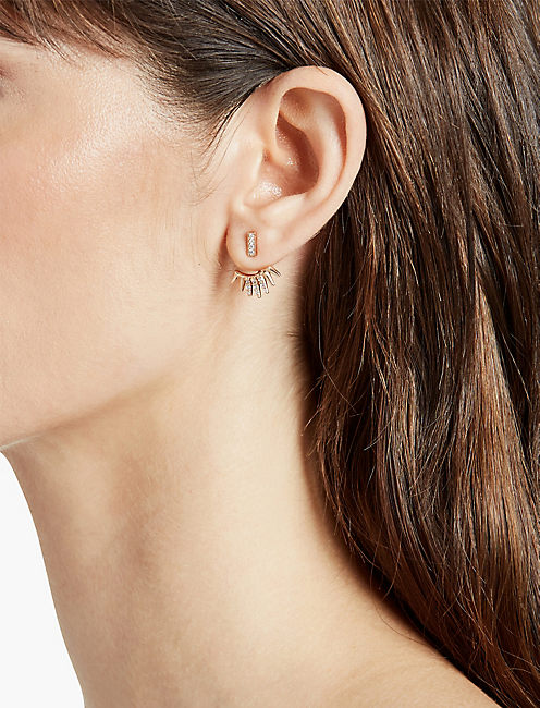LUCKY ROSE GOLD PAVE EAR JACKET