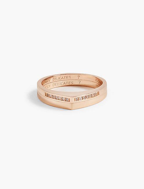 ROSE GOLD PYRAMID RING,