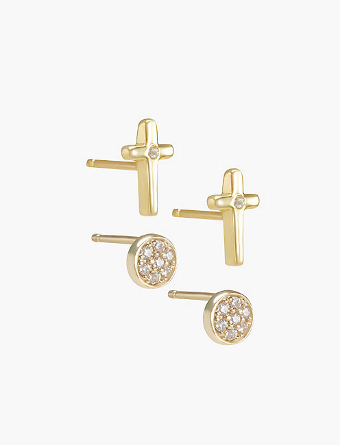 CROSS EARRING SET,