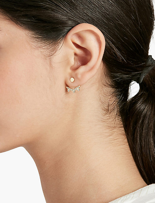 Lucky Pave And Gold Ear Jacket