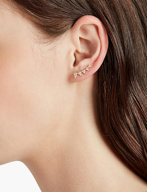 PAVE TRIANGLE EAR CRAWLER,