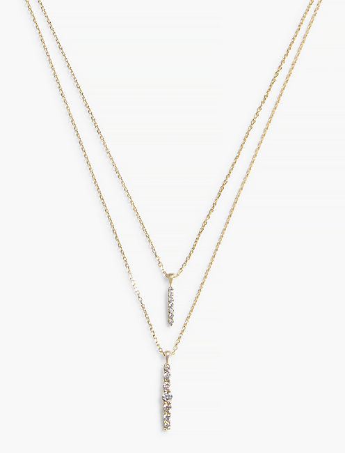 GOLD DOUBLE LAYER NECKLACE,
