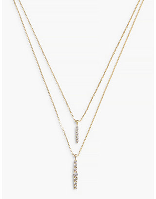 LUCKY GOLD DOUBLE LAYER NECKLACE