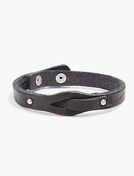 METAL LEATHER BRACELET