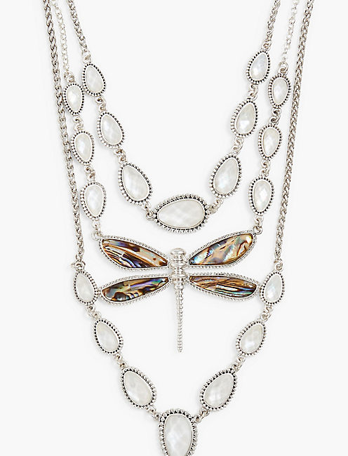 ABALONE DRAGONFLY NECKLACE,