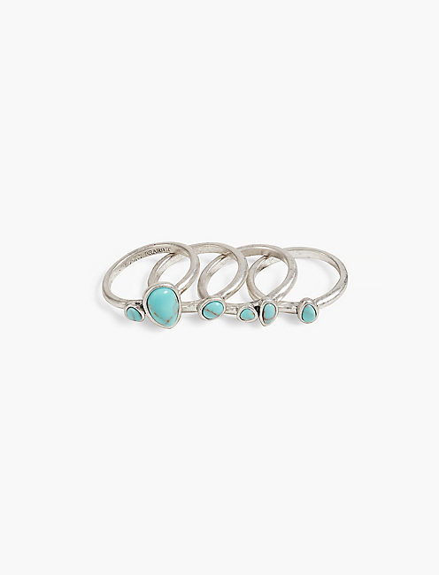 TURQUOISE STACK RING,