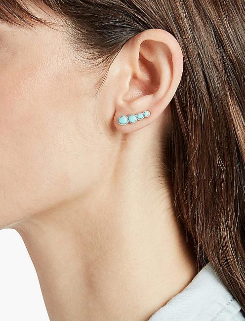 BASIC TURQUOISE EAR CRAWLER,