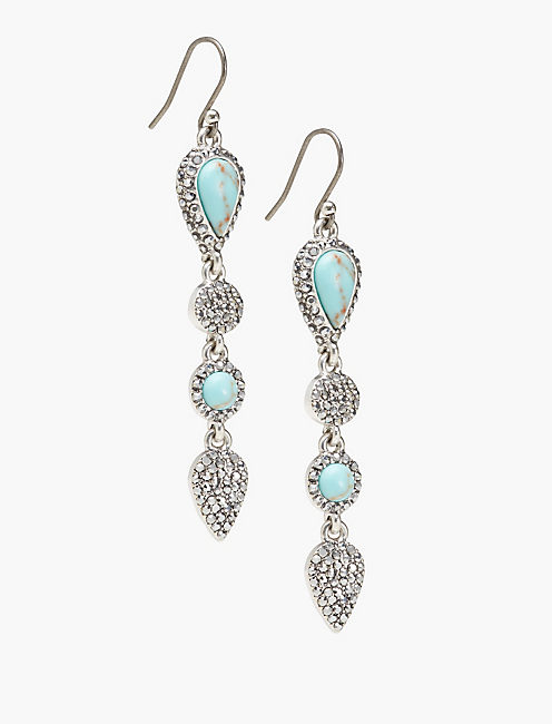 TURQUOISE LINEAR EARRING,