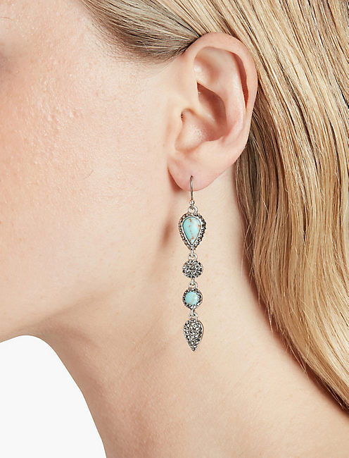 LUCKY TURQUOISE LINEAR EARRING