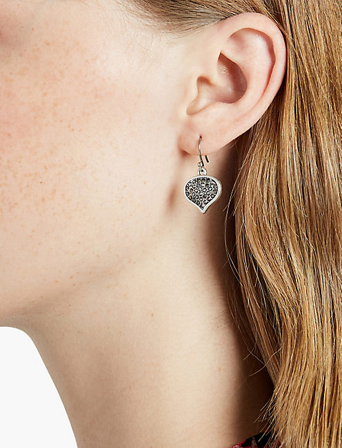 LUCKY PAVE SPADE DROP EARRING