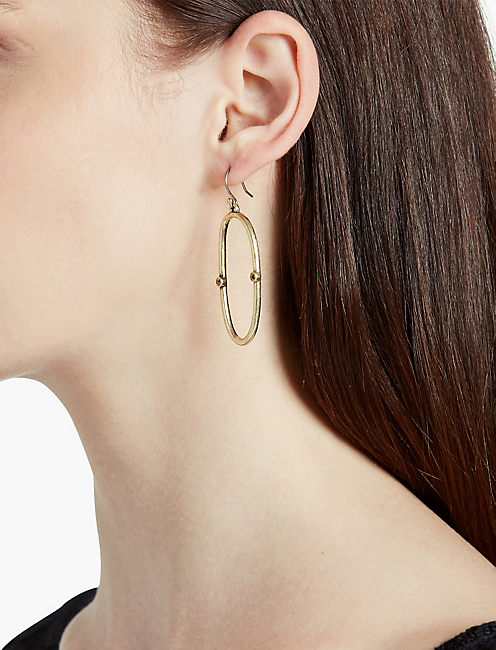 LUCKY OPEN HOOP EARRING