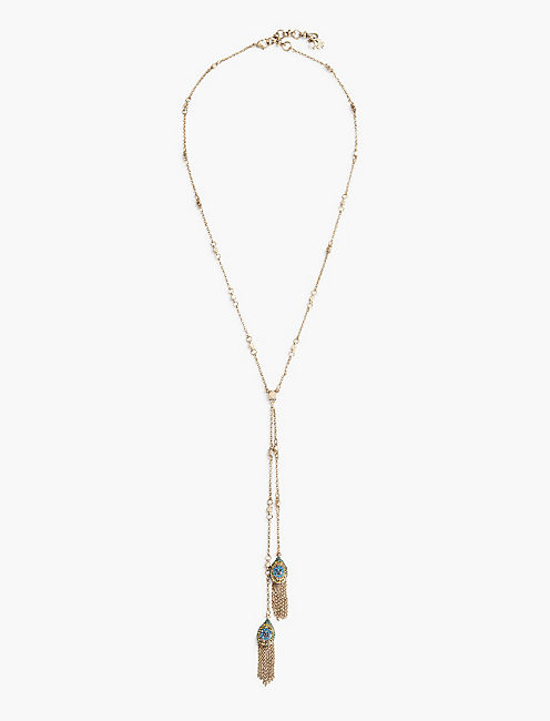 DOUBLE PEACOCK LARIAT,