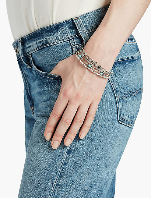 LUCKY TURQ PAVE SMALL LUCKY LAYER BRACELET