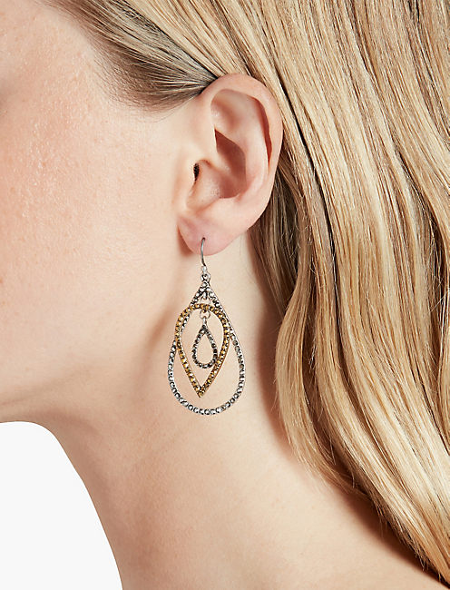 LUCKY PAVE TEAR DROP EARRING