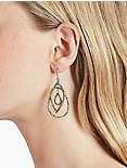 PAVE TEAR DROP EARRING,