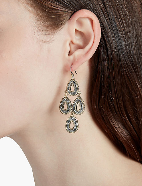 GOLD TEAR EARRING,