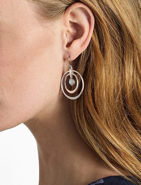 Lucky Seafoam Hoop Earring